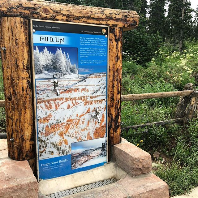 More of these water bottle refill stations are popping up at National Parks. 'Perfect place to promote choices that reduce environmental impact. #wkbnch #xdmfa
